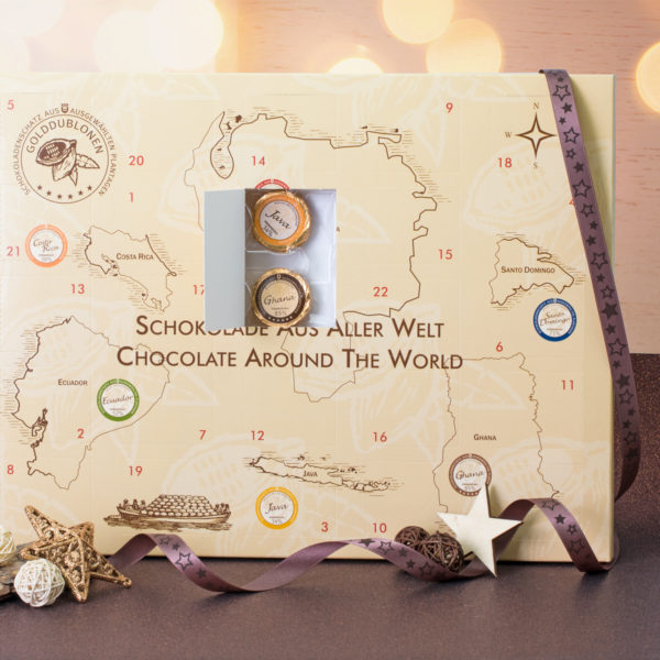 """0515 Adventskalender """"Schokolade aus aller Welt"""""""