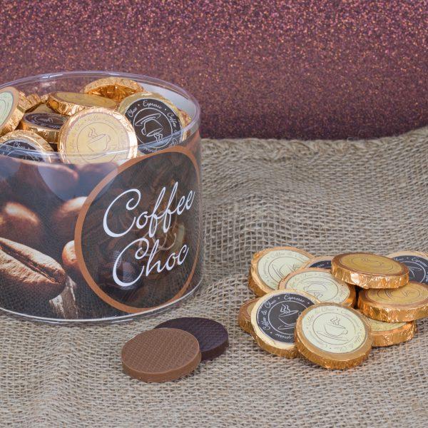 Klarsichtdose mit 60 Coffee & Choc Talern