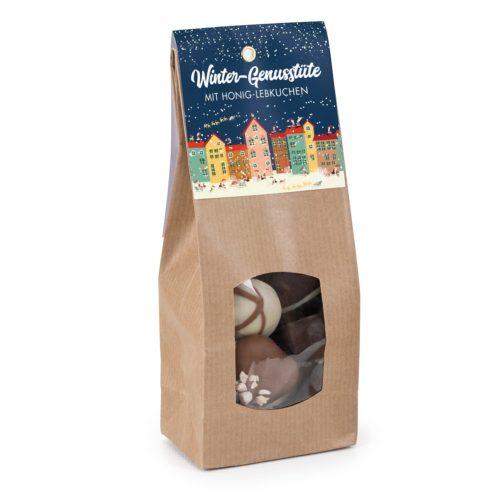 Kleine weihnachtliche Schnucker-Tüte mit leckeren Honig-Lebkuchen