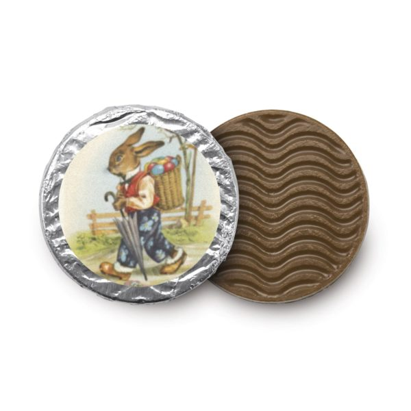 Nostalgie-Osterhasen-Taler aus feinster Vollmilchschokolade