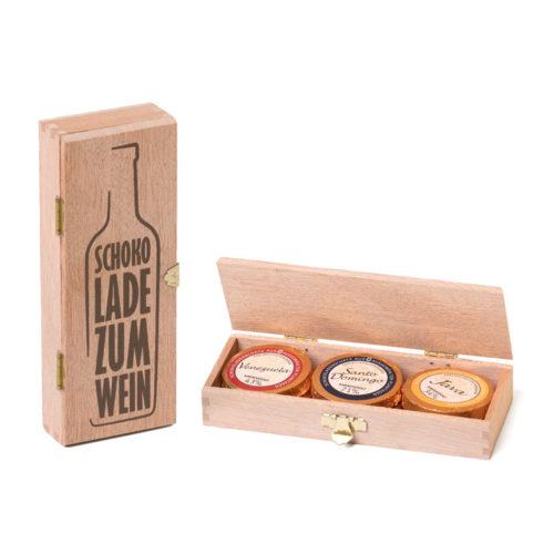 2605_Holzkiste_Schokolade zum Wein_6 Golddublonen