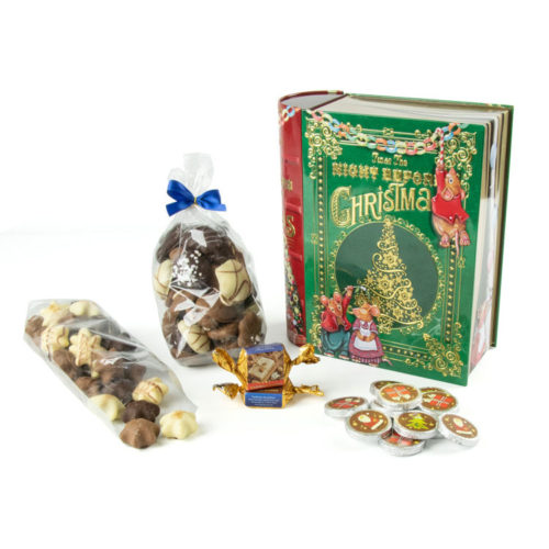 Präsentbox Weihnachtsmärchen mit süßem Inhalt