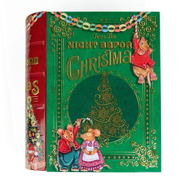 Präsentbox mit süßem Weihnachtsmotiv und Reliefprägung
