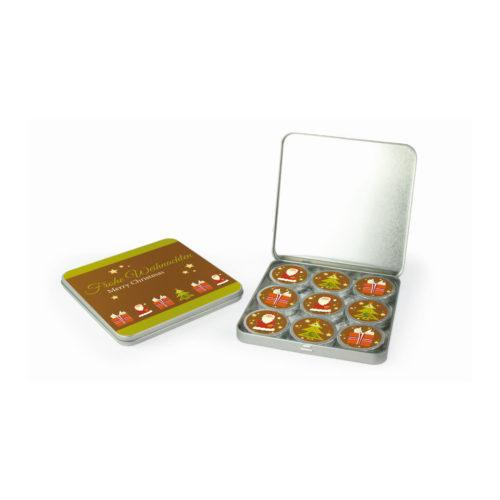 CD-Box mit 9 Talern Braun