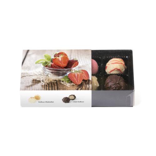 100g Klarsichtpackung mit Erdbeer Trüffelmischung