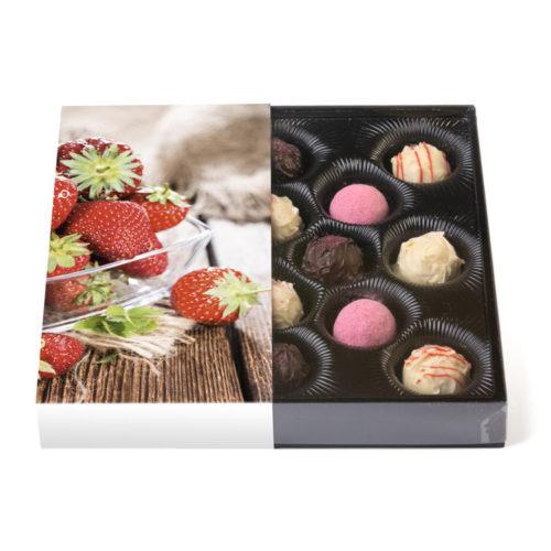 200g Klarsichtpackung mit Erdbeer Trüffelmischung