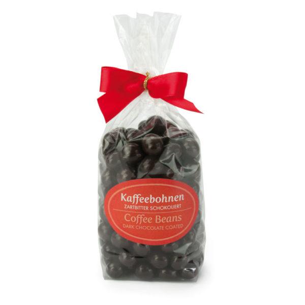 Kaffeebohnen umhüllt von feinster Zartbitterschokolade